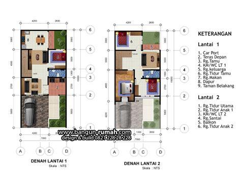 denah rumah  lantai lebar  meter   meter desain