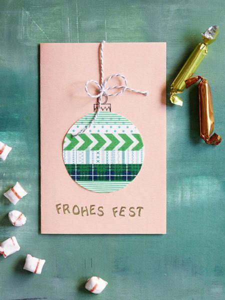 kreative ideen weihnachtskarten selber basteln