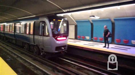 New Azur Trains Leaving Plamondon Station - Montreal Metro ...
