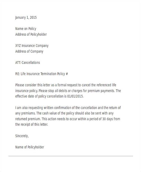 In order to withdraw from the contract you will have to send a in addition, the letter of cancellation must be addressed from, and signed by, the policyholder. 60+ Termination Letter Examples in PDF   MS Word   Google Docs   Pages   Examples
