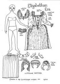 Elizabethan-era Paper Doll