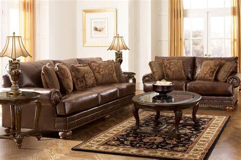 chaling durablend antique living room set  ashley