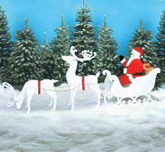 reindeer sleigh santa collection large size