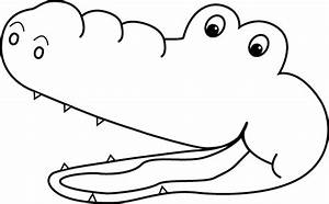 Black and White Greater Than Alligator Mouth Clip Art ...