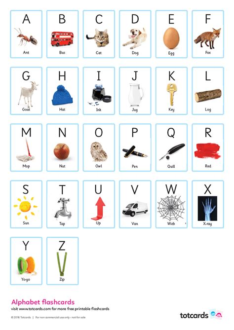 printable alphabet flashcards  pictures printable
