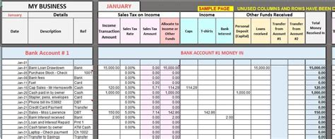 excel bookkeeping templates bookkeeping templates