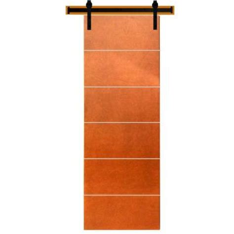 interior barn door hardware home depot steves sons 36 in x 90 in modern stained hardwood