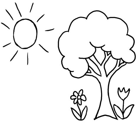 tree coloring pages  printable  tree coloring