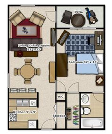 studio apartments floor plan  square feet location