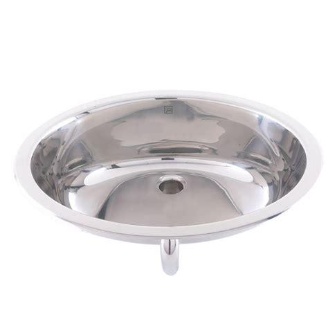 Stainless Steel Sinks Bathroom by Decolav Simply Stainless Drop In Bathroom Sink In