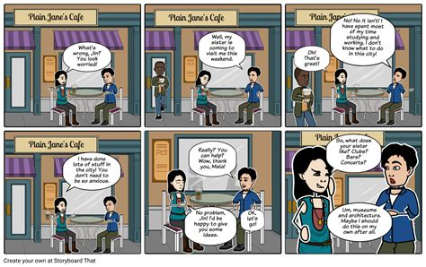 dialogue   friends esl practice storyboard