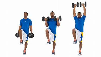 Curl Bicep Press Leg Single Exercises Dumbbell