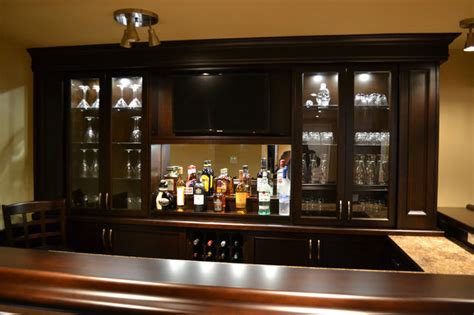 Home Bar Accessories Canada by Basement Bar Traditional Basement Toronto By The