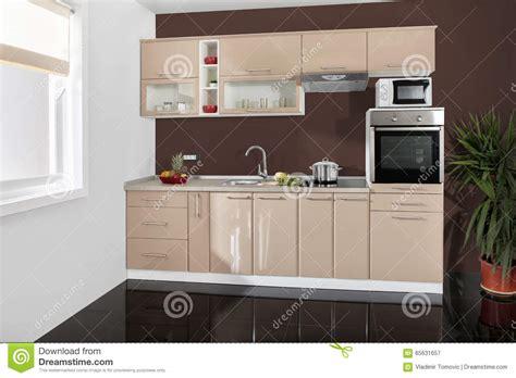 cuisine en dur cuisine cuisine en placage de bois tons avec retomber de