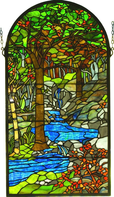 tiffany stained glass l tiffany waterbrooks stained glass window suncatcher