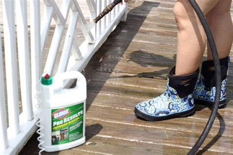 cleaning outdoors decks furniture and patios in style