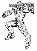 War Machine Para Dibujos Marvel Coloring Colorear Maquina Comics Iron Pages Guerra Avengers sketch template