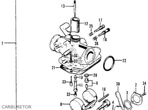 honda ct70 trail 70 k0 1969 usa parts list partsmanual