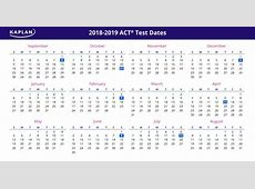ACT Test Dates 2018 19 Registration Dates & Fees