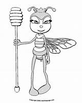 Coloring Pages Colouring Honey Bee Queen Printable Bees Sheets Christmas Popular Library Clipart sketch template