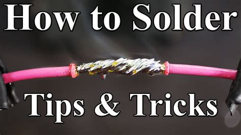 How To Solder Wires Together (best Tips And Tricks) Youtube