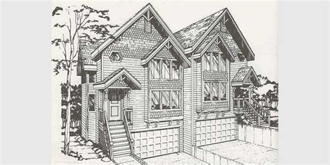 duplex home plans designs  narrow lots bruinier