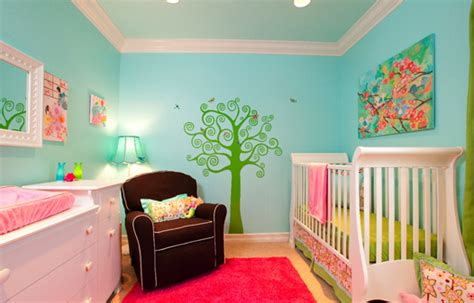 beautiful baby girl nursery decor ideas  bright colors