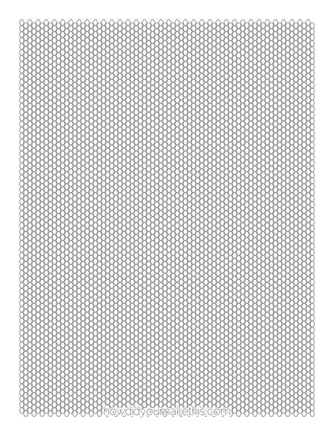 printable seed bead graph paper template print