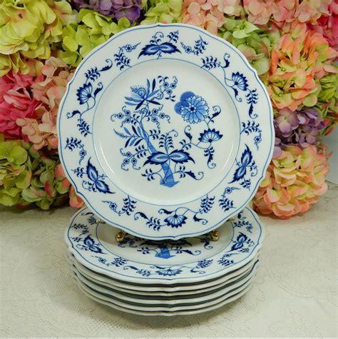 7 vintage blue danube dinner plates blue blue