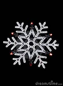 Neon Snowflake Christmas Decoration Stock Image Image