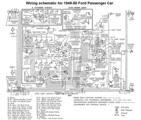 1950 Shoebox Ford Headlight Switch Wiring Diagram by Wiring For 1949 50 Ford Car Ford 1949 50 51