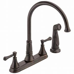 delta, cassidy, two, handle, kitchen, faucet, with, spray, , venetian, bronze, -, walmart, com