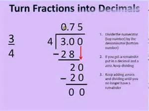 how do you turn decimals into fractions convert fractions to decimals and decimals to fractions tutorial