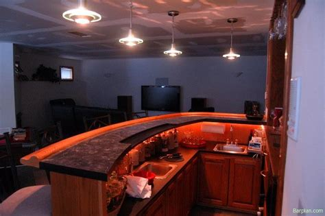 curved bar masterpiece easy home bar plans