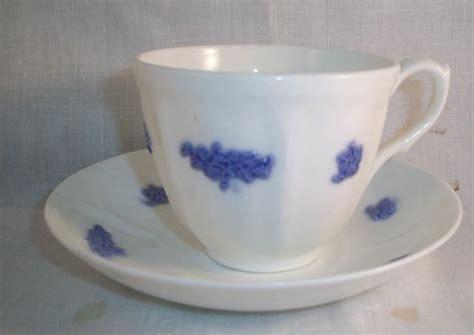 Adderley Chelsea Blue Grape Cup & Saucer Grandmother Ware