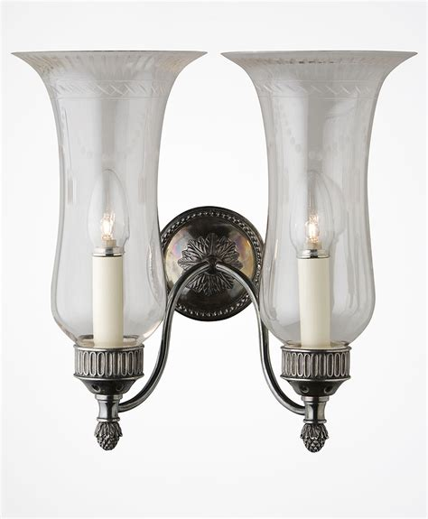 wall sconce ideas two head high glass shade candle