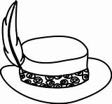 Hat Coloring Cowboy Outline Stylish Sun sketch template