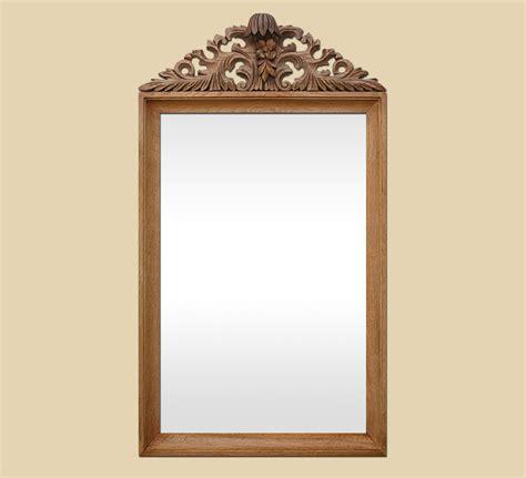 miroir en bois sculpte grand miroir ancien 224 fronton sculpt 233 en bois naturel