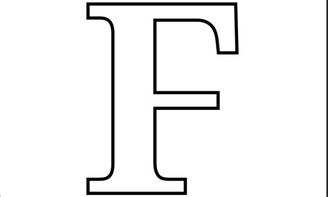 letter f template letter f printable letter of recommendation