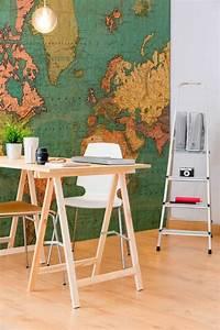 Carte Du Monde En Bois : le poster carte du monde g ante vous donne envie voyager ~ Teatrodelosmanantiales.com Idées de Décoration