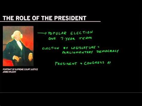 The Constitution And The Role Of The President
