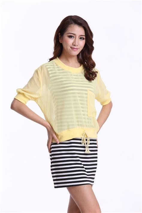 cheap blouses 2015 summer style shirts solid plus size chiffon
