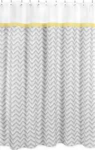 yellow and gray chevron zig zag kids bathroom fabric bath