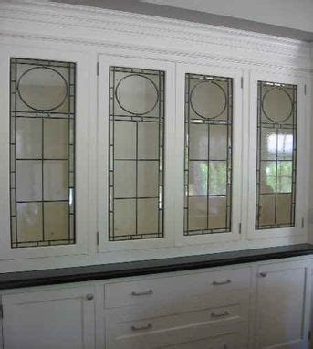 Custom Leaded Glass Cabinet Inserts by Glassworks Studio