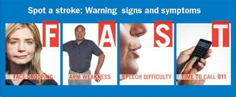 Recognizing the most common warning signs of a stroke