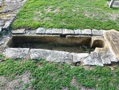 Stone Coffin Abbey Muchelney Church Foundations