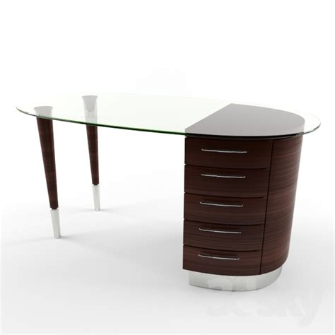 wooden office desk with glass top 3d models office furniture wooden desk with glass top