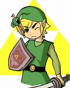 Link And Ezlo Legend Of Zelda The Minish Cap By