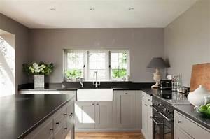 peinture cuisine 40 idees de choix de couleurs modernes With idee peinture cuisine grise