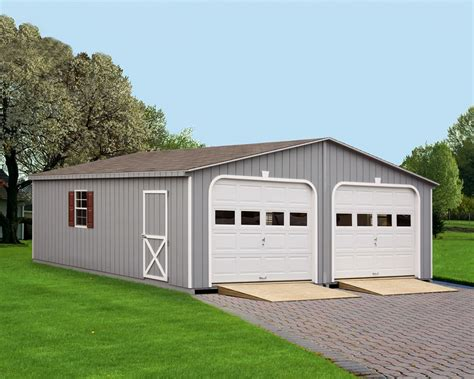 Double Garage : Painted Double Garage » Green Acres Outdoor Living